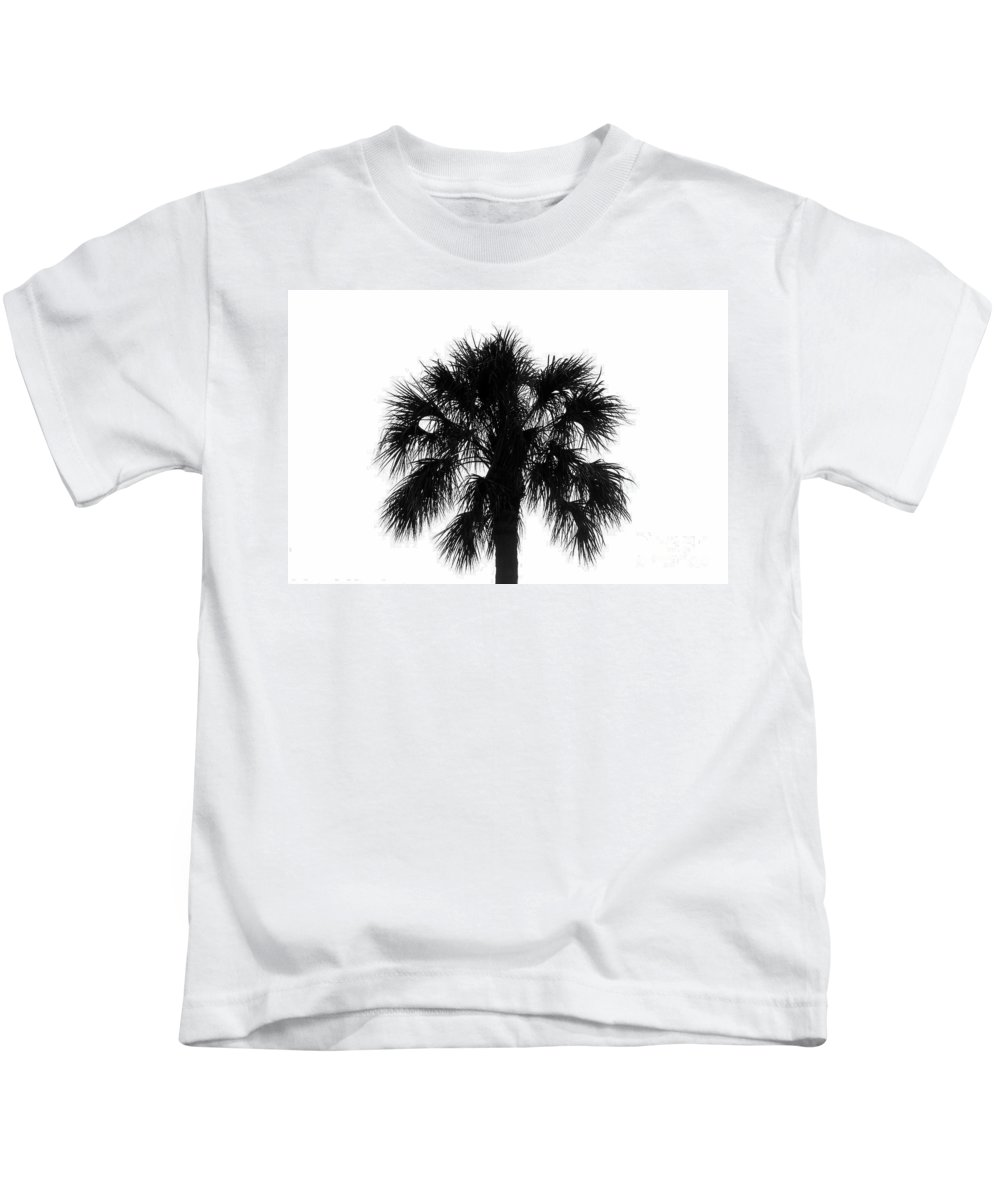 Palm Tree Kids T-Shirt featuring the photograph Naked Palm by David Lee Thompson