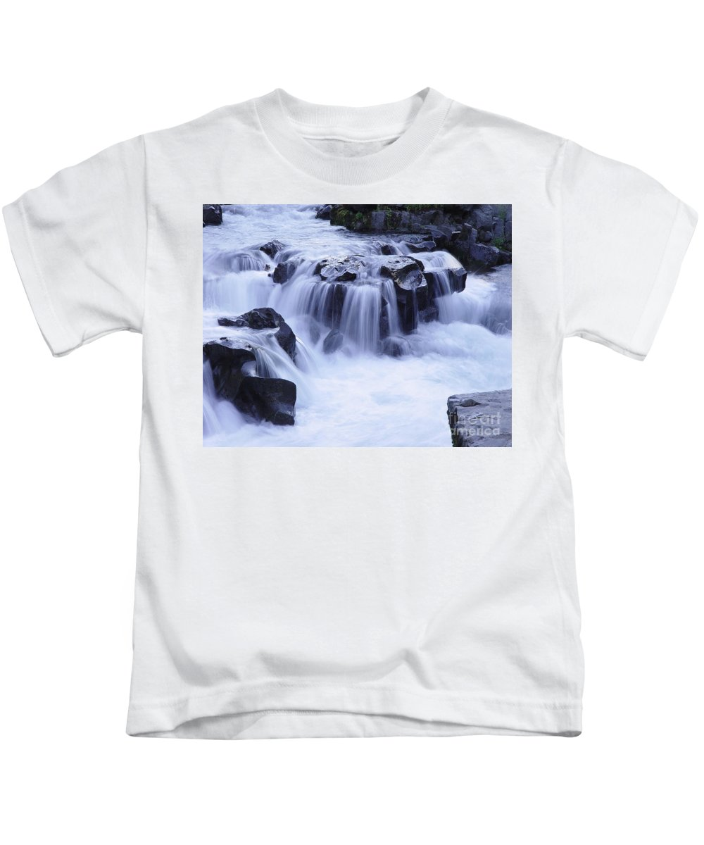 Waterfall Kids T-Shirt featuring the photograph Natural Bridges Falls 01 by Peter Piatt