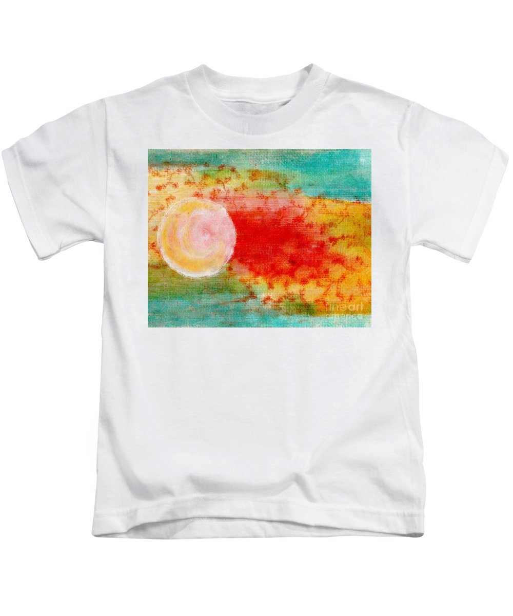 Mixed Media Kids T-Shirt featuring the painting Nature In Abstract by Desiree Paquette