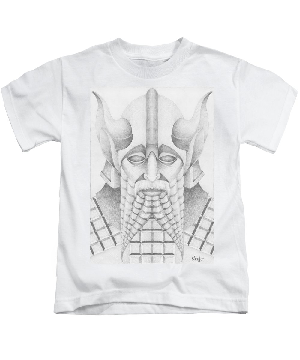 Babylonian Kids T-Shirt featuring the drawing Nebuchadezzar by Curtiss Shaffer