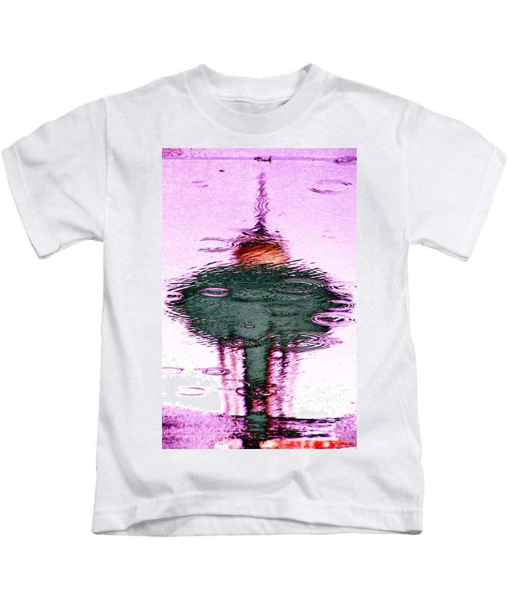 Seattle Kids T-Shirt featuring the photograph Needle In A Raindrop Stack 2 by Tim Allen