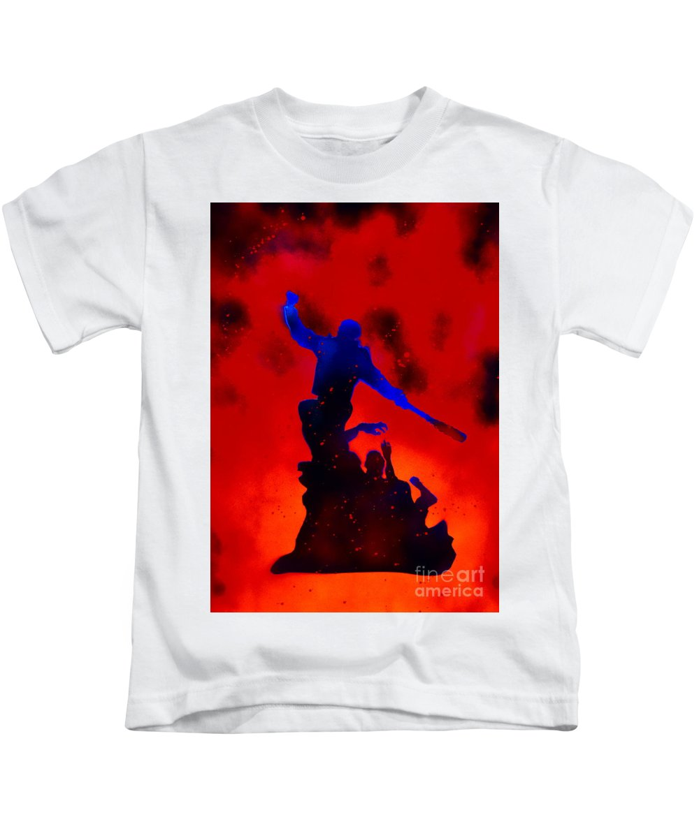 Justin Moore Kids T-Shirt featuring the painting Negan Triumph by Justin Moore