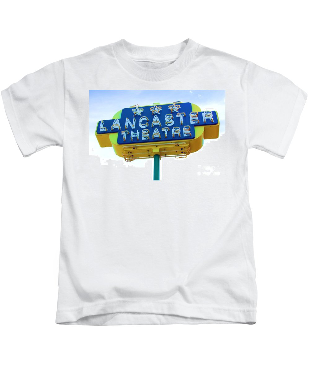 Sign Kids T-Shirt featuring the photograph Neon by Debbi Granruth