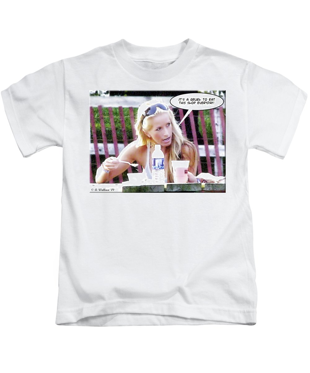 2d Kids T-Shirt featuring the photograph New Diet by Brian Wallace