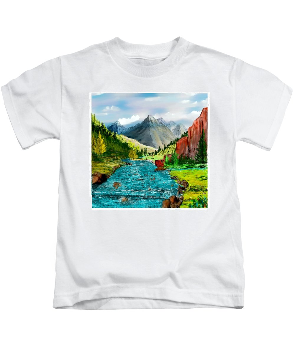 Kids T-Shirt featuring the New Upload by David Lane