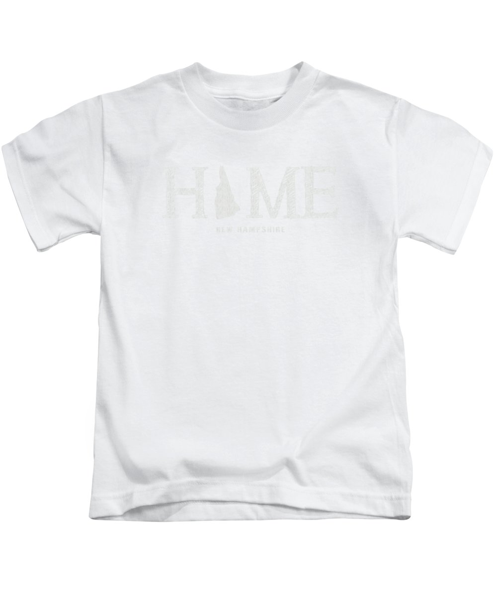 New Hampshire Kids T-Shirt featuring the mixed media Nh Home by Nancy Ingersoll