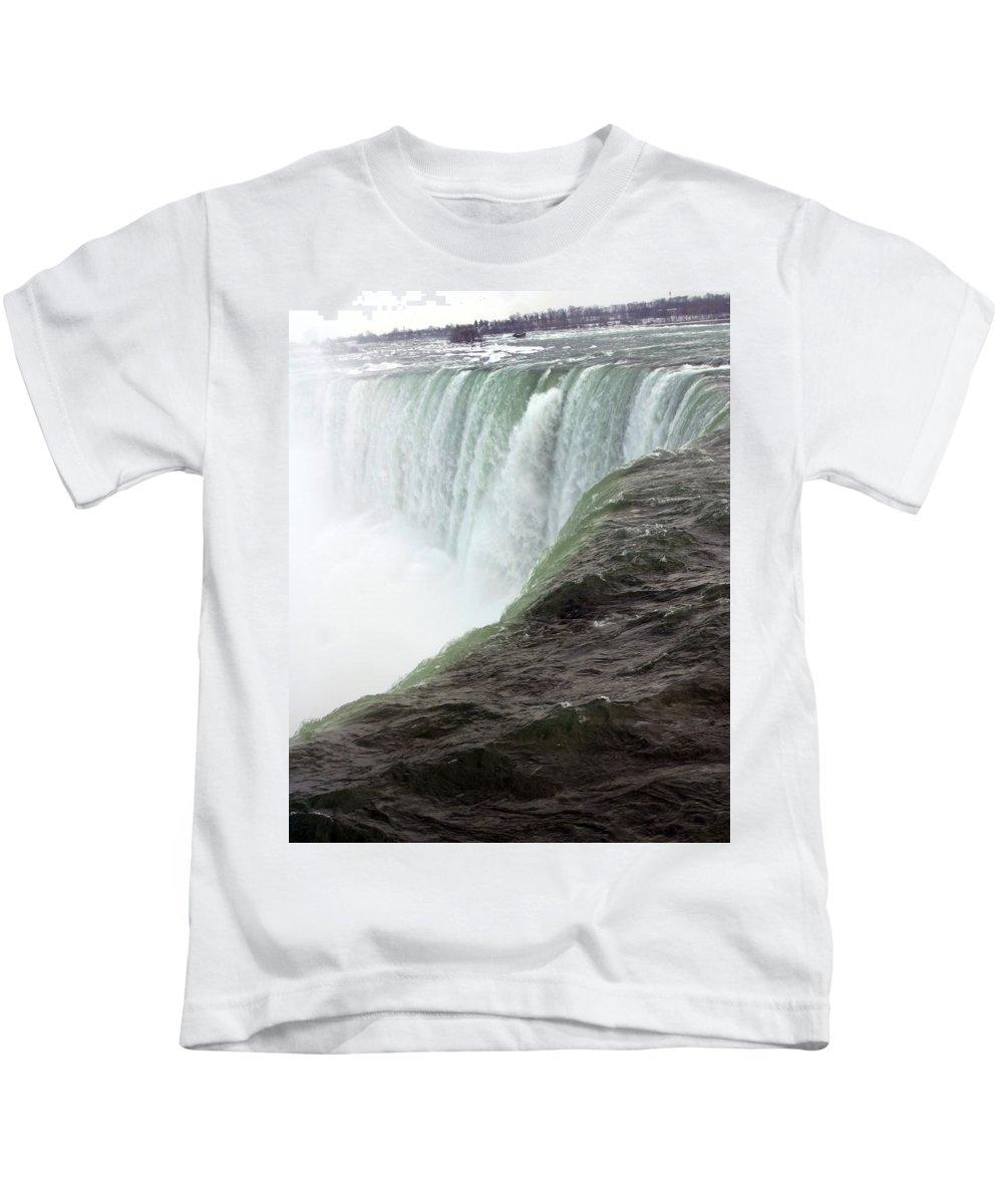 Niagara Falls Kids T-Shirt featuring the photograph Niagara Falls 1 by Anthony Jones