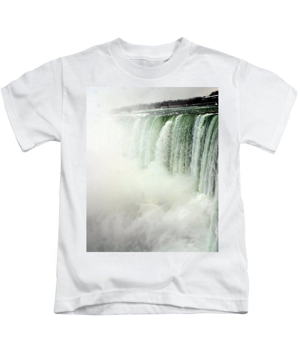 Landscape Kids T-Shirt featuring the photograph Niagara Falls 4 by Anthony Jones