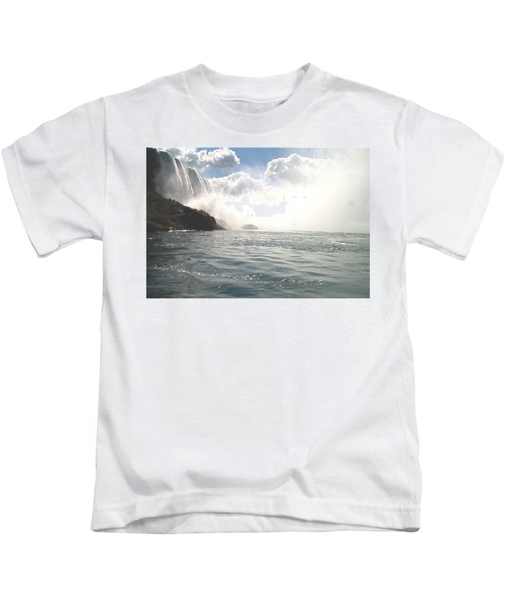 Landscape Kids T-Shirt featuring the photograph Niagara Falls by Debbie Levene