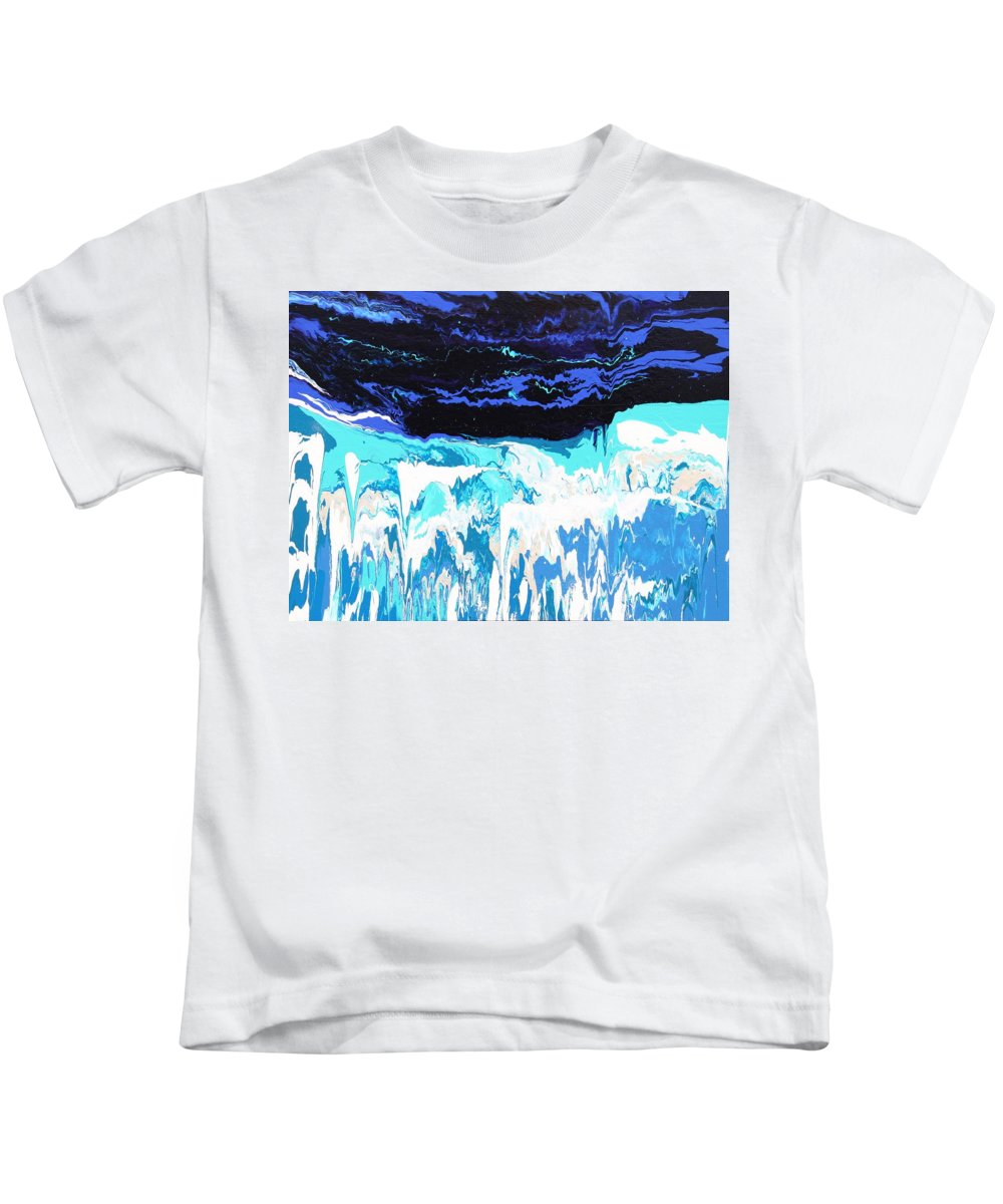 Fusionart Kids T-Shirt featuring the painting Niagara by Ralph White