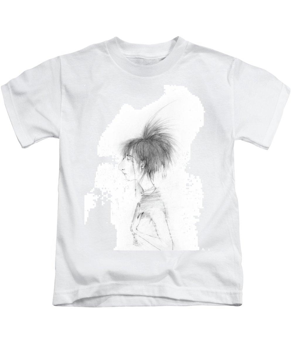 Haircut Kids T-Shirt featuring the drawing Nice Haircut by Marina Kapilova