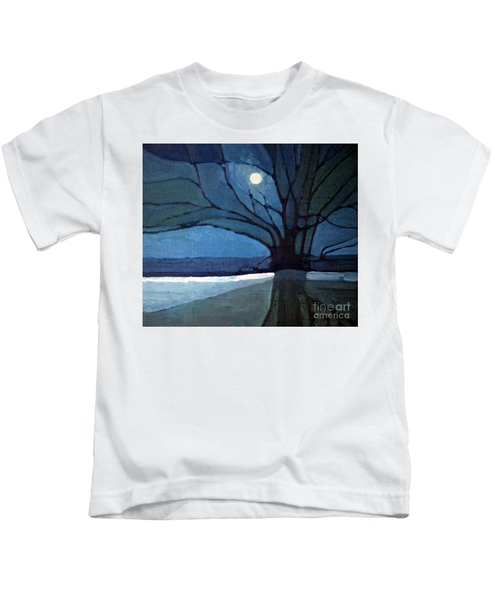 Moonrise Kids T-Shirt featuring the painting Nocturne 71 by Donald Maier