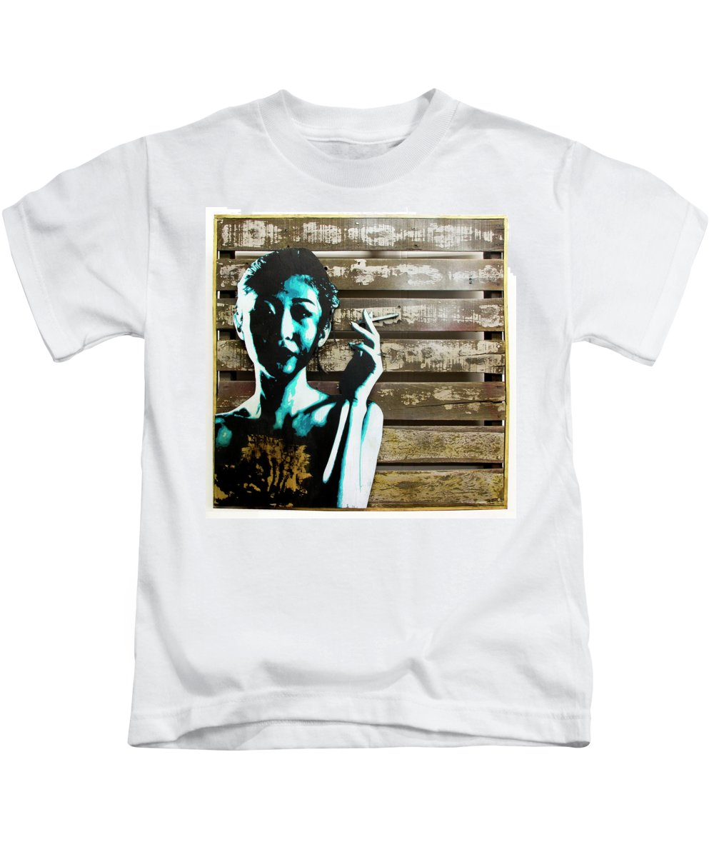 Street Art Kids T-Shirt featuring the painting Now You Know... by Bobby Zeik