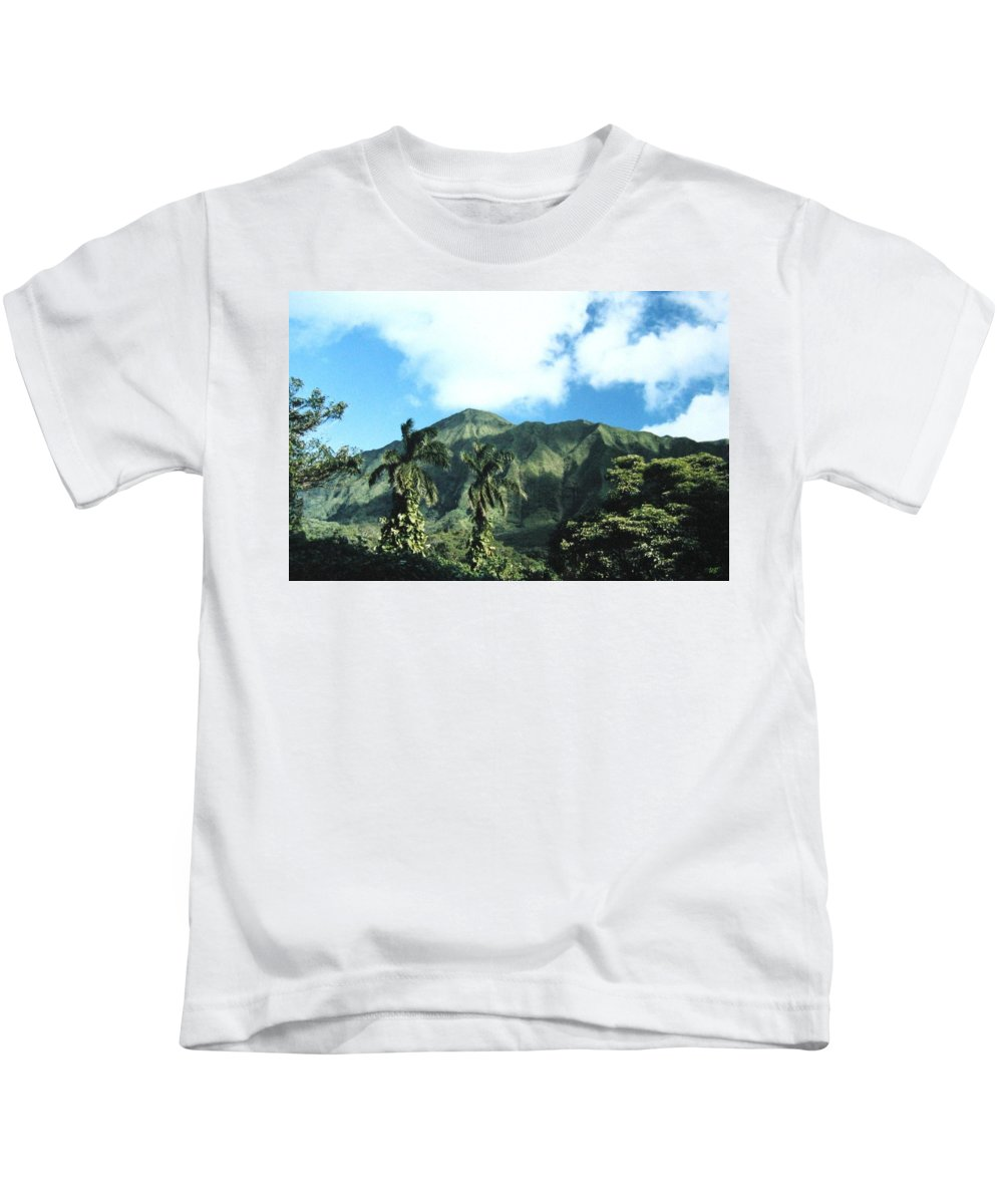 1986 Kids T-Shirt featuring the photograph Nuuanu Pali by Will Borden