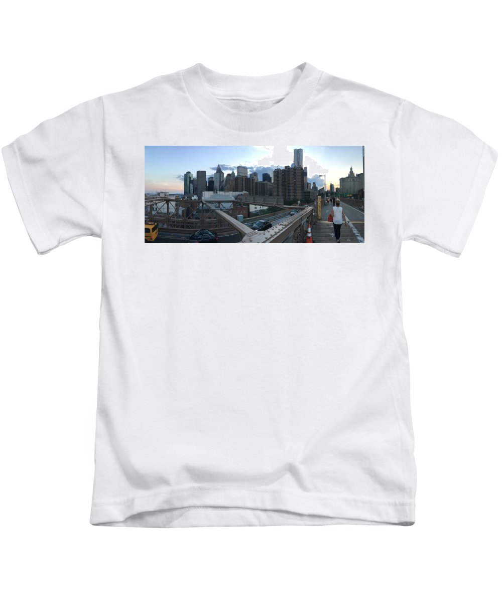 Kids T-Shirt featuring the photograph NYC by Ashley Torres