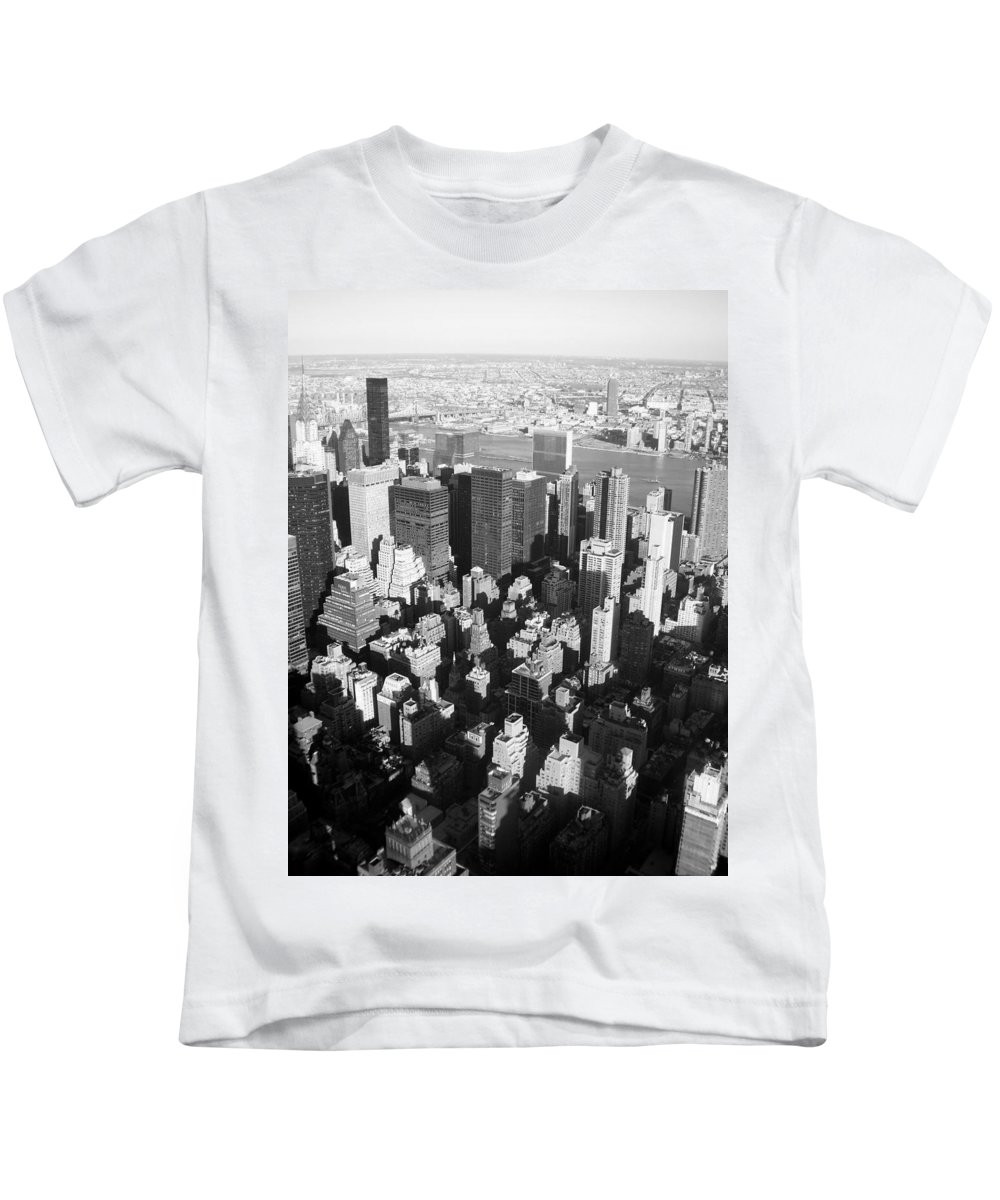 Nyc Kids T-Shirt featuring the photograph Nyc Bw by Anita Burgermeister