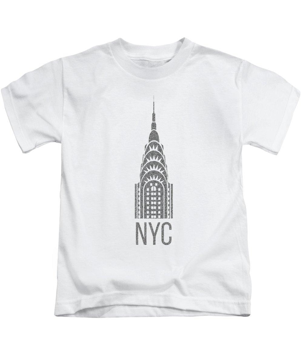 Chrysler Building Kids T-Shirts