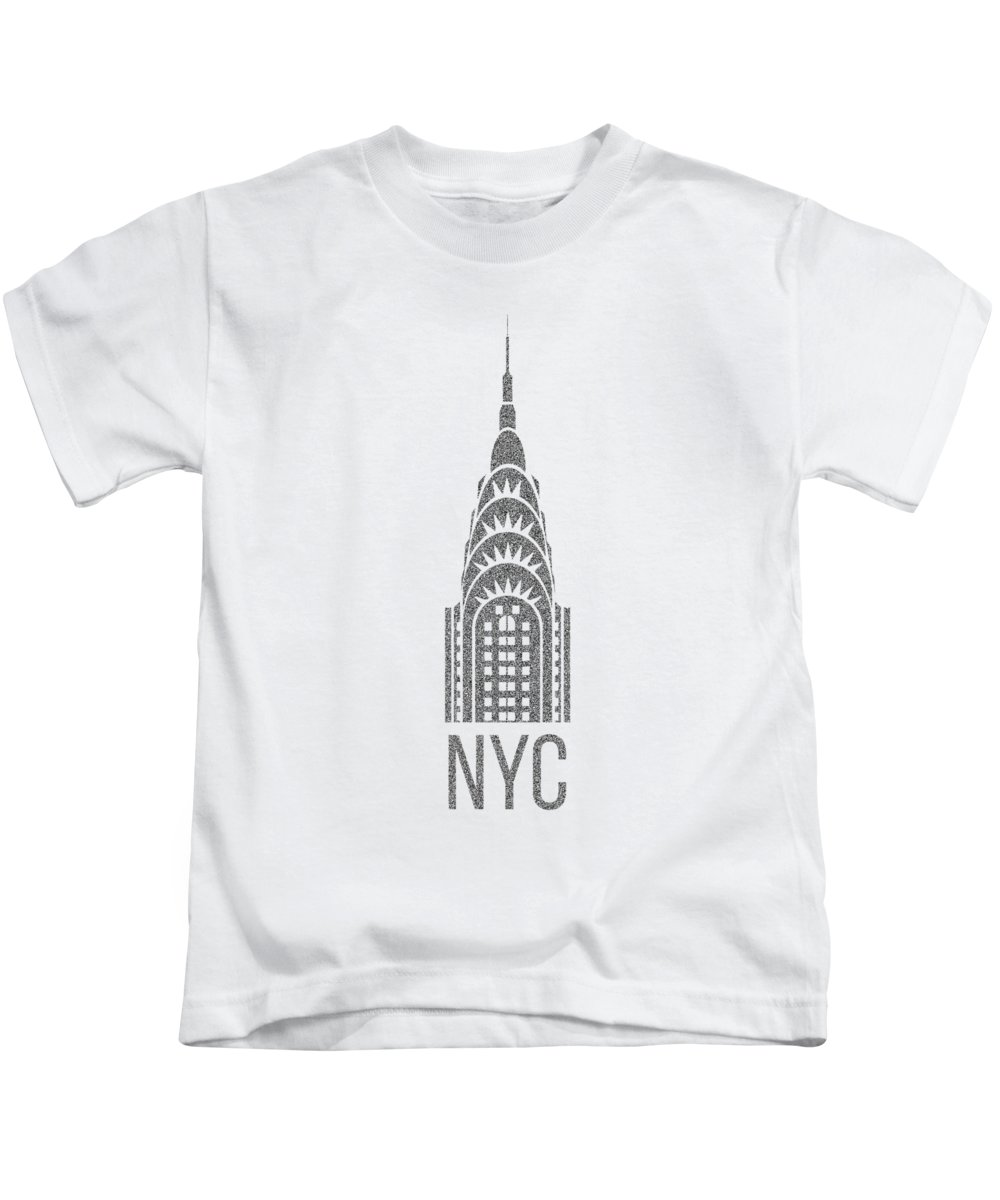 Chrysler Building Kids T-Shirts
