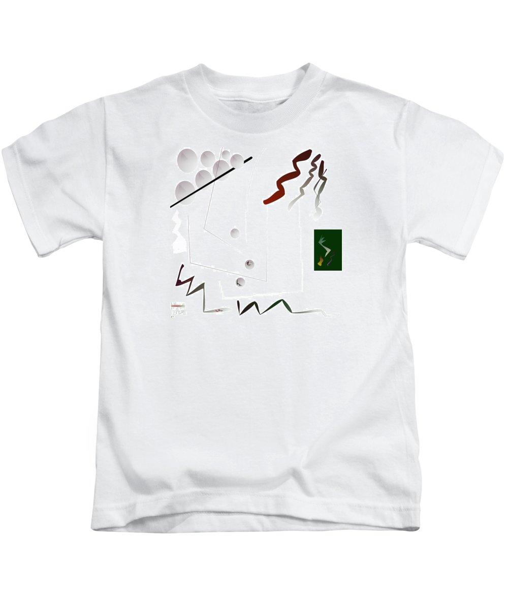 Annunciation Kids T-Shirt featuring the digital art O No by Aminus Bplus