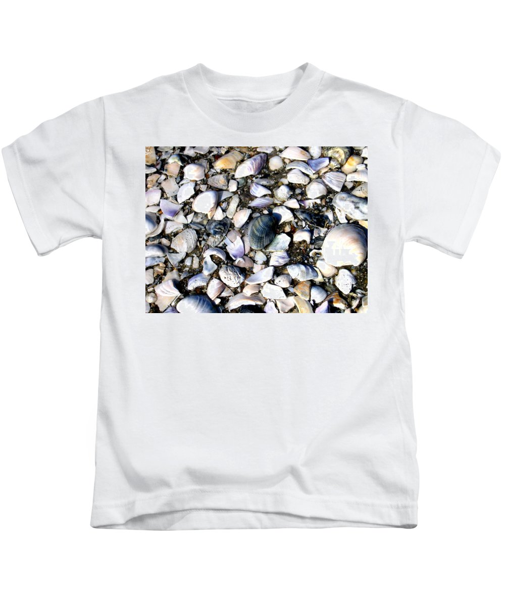 Ocracoke Kids T-Shirt featuring the photograph Ocracoke Shells by Wayne Potrafka