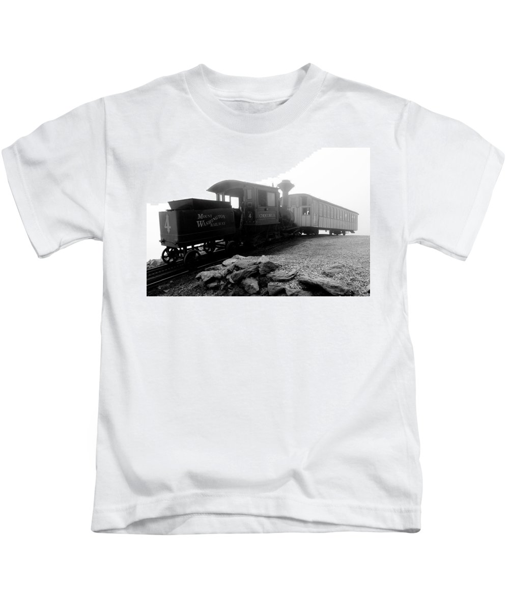 Train Kids T-Shirt featuring the photograph Old Locomotive by Sebastian Musial