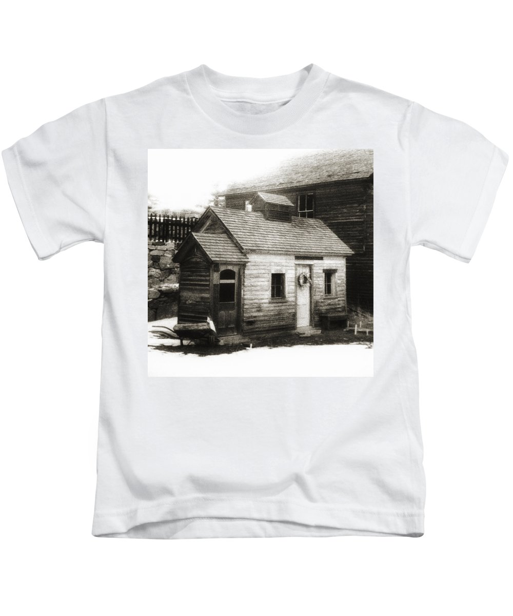 Infrared Kids T-Shirt featuring the photograph Old Miner by Marilyn Hunt