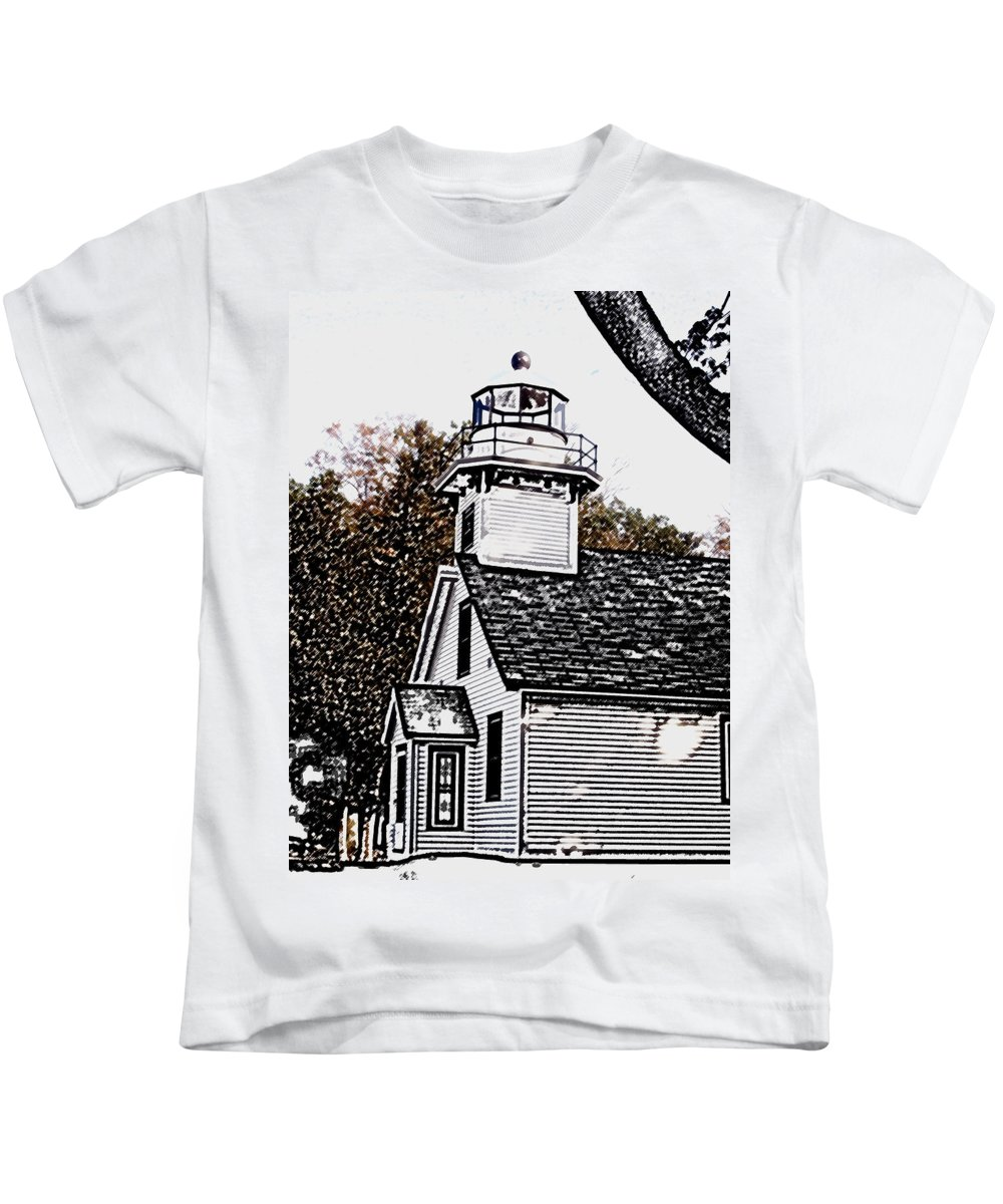 Altered Kids T-Shirt featuring the photograph Old Mission Point by Wayne Potrafka