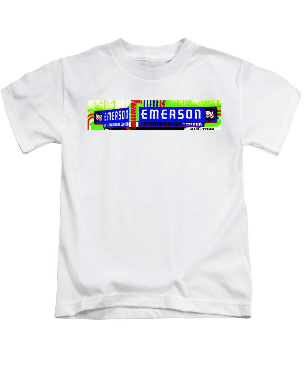 Music Kids T-Shirt featuring the photograph Old Theater by Ed Smith