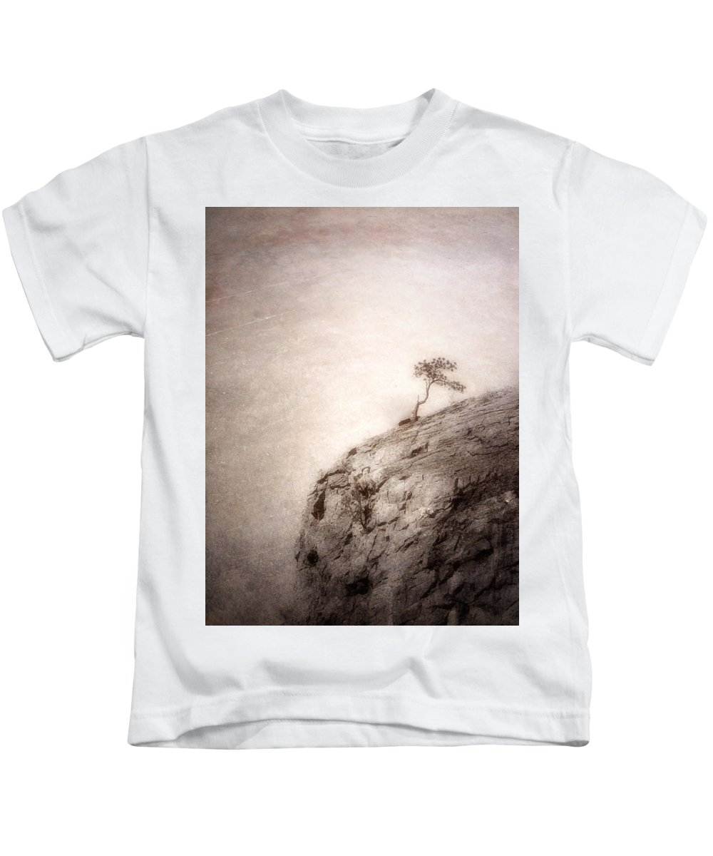 Tree Kids T-Shirt featuring the photograph On Edge by Tara Turner