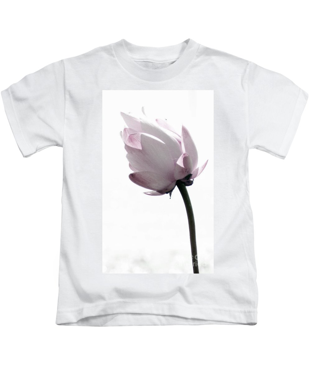 Lotus Kids T-Shirt featuring the photograph On The Inside by Amanda Barcon