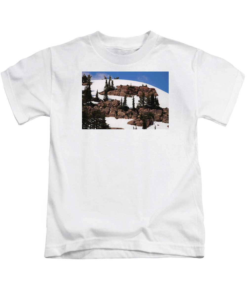 Mt. Kids T-Shirt featuring the photograph On The Rocks by Marnie Patchett