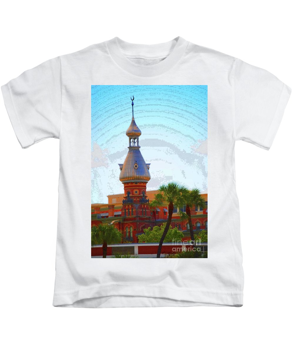 University Of Tampa Kids T-Shirt featuring the photograph Open Sky On Ut by Jost Houk