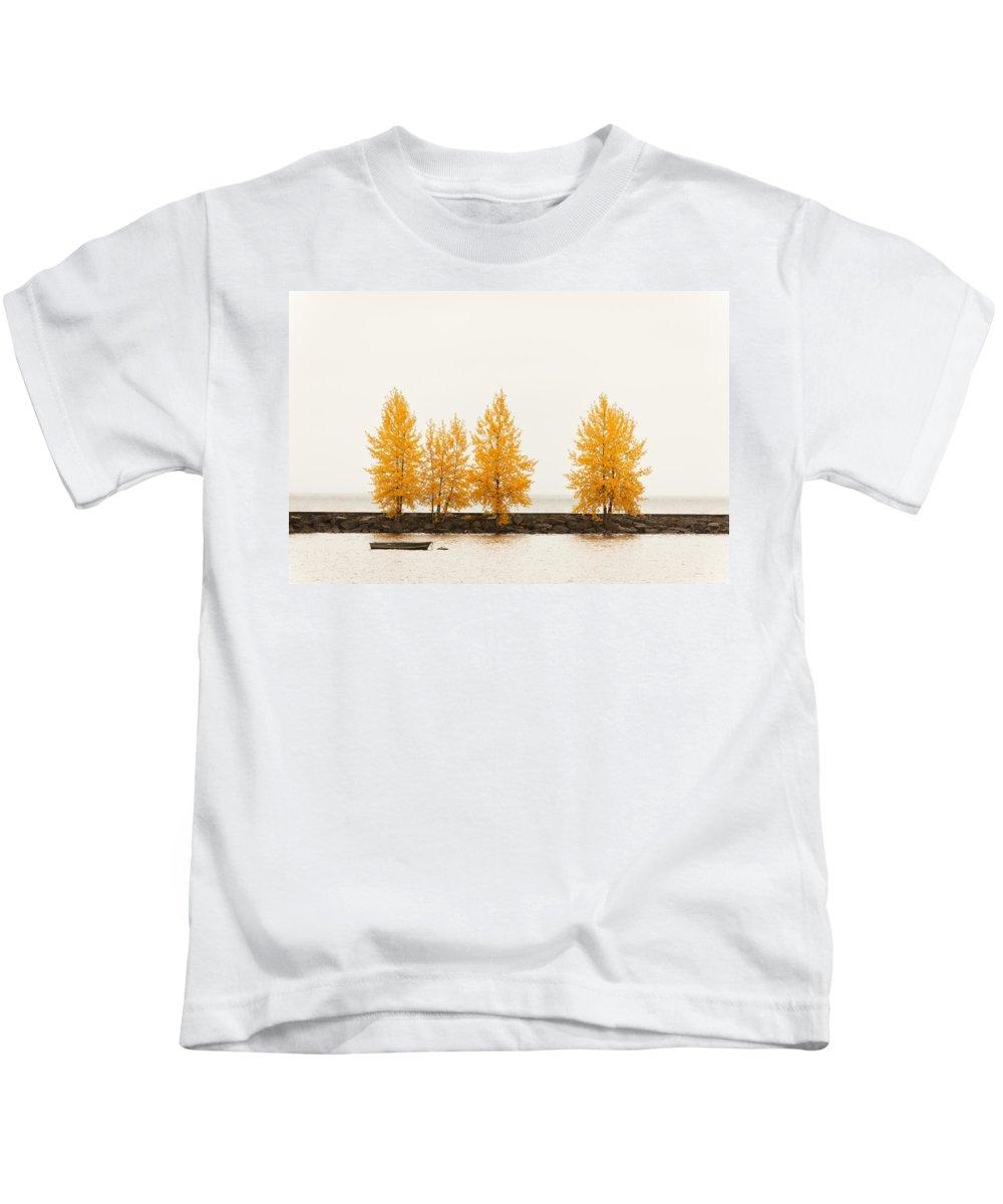 Autumn Kids T-Shirt featuring the photograph Orange Autumn by U Schade