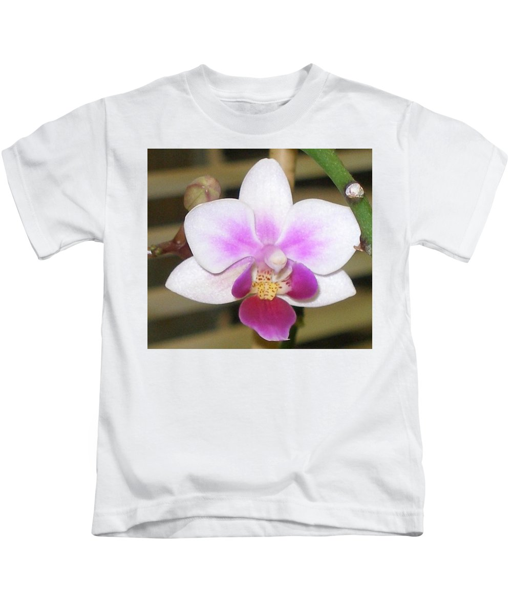Purple Kids T-Shirt featuring the photograph Orchid Explosion by Maria Bonnier-Perez