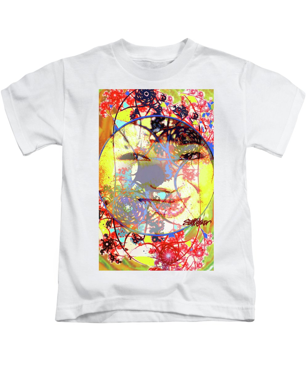 Oriental Garden Moon Kids T-Shirt featuring the photograph Oriental Garden Moon by Seth Weaver