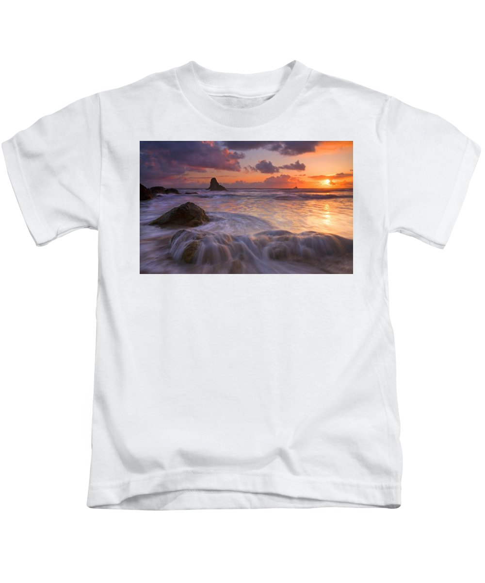 Sunset Kids T-Shirt featuring the photograph Overcome by Mike Dawson