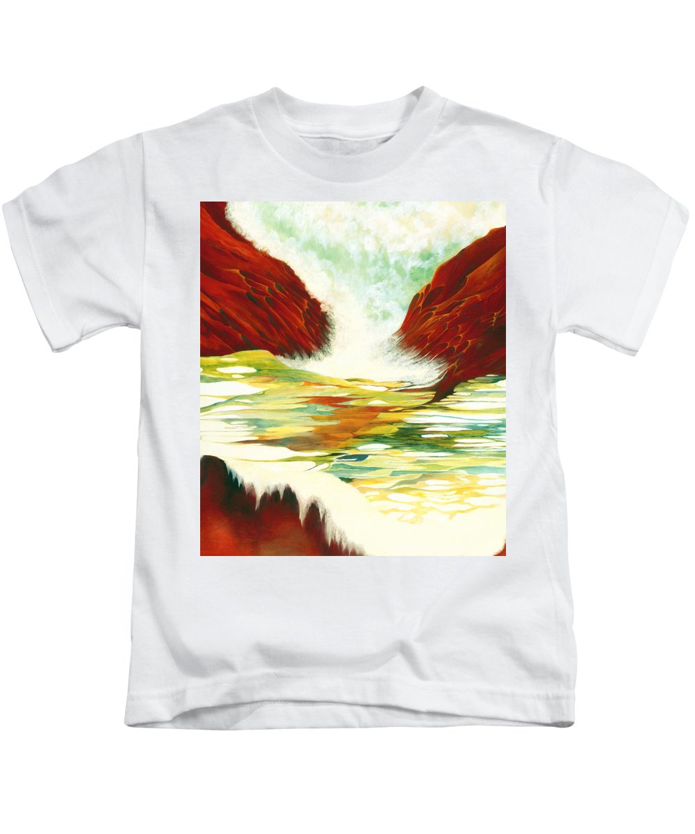 Oil Kids T-Shirt featuring the painting Overflowing by Peggy Guichu