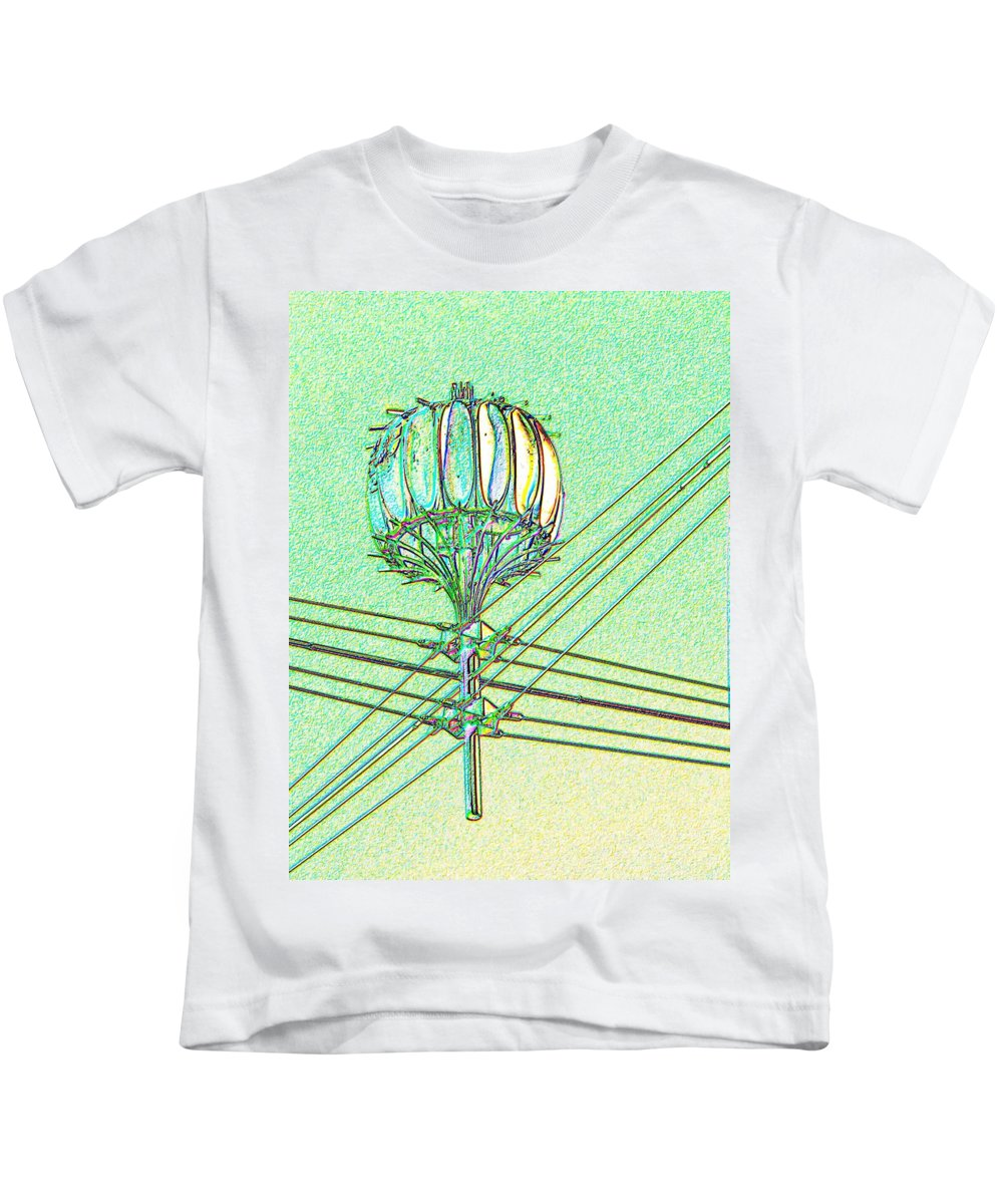 Seattle Kids T-Shirt featuring the digital art Pacific Science Center Lamp by Tim Allen