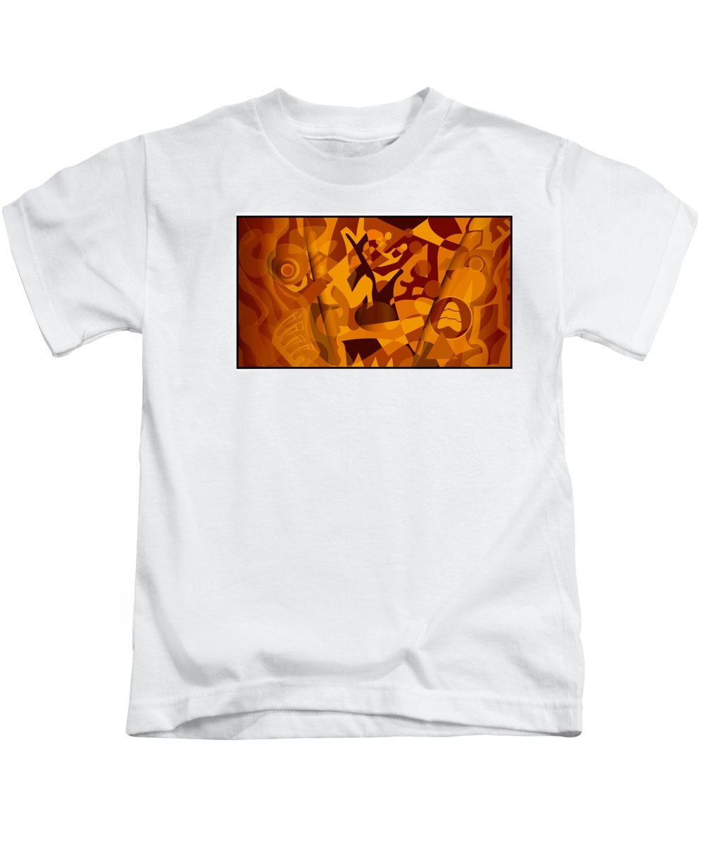 Digital Art Kids T-Shirt featuring the digital art Painting 301 by Jacob Hokanson
