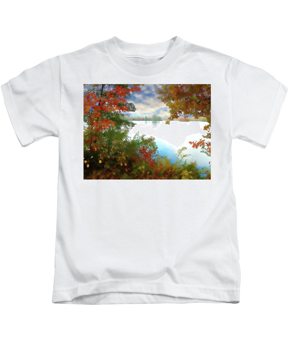 Nature Kids T-Shirt featuring the digital art Paints Of Fall by Alex Lim