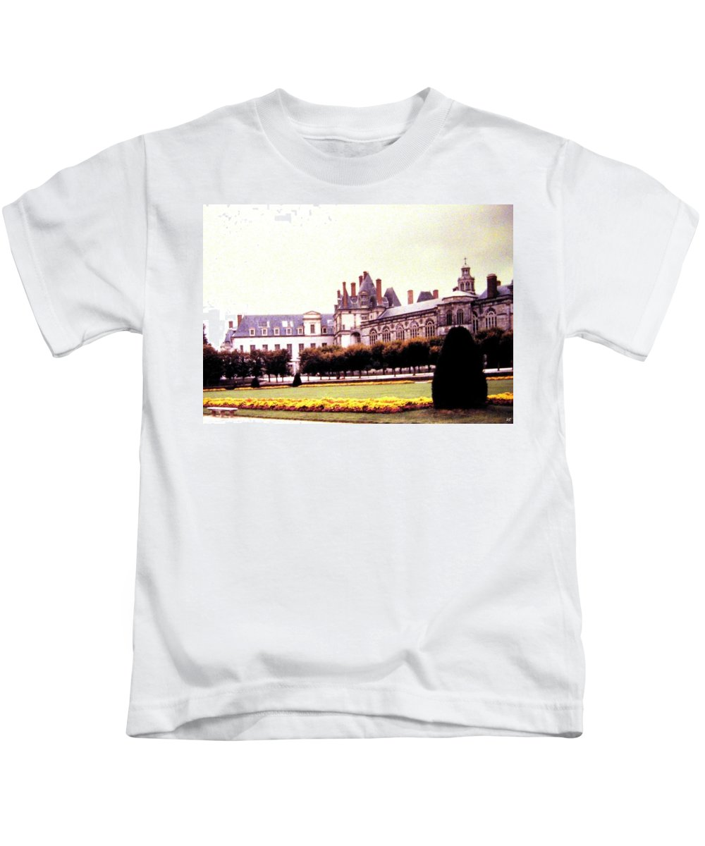 1955 Kids T-Shirt featuring the photograph Palace of Fontainebleau 1955 by Will Borden