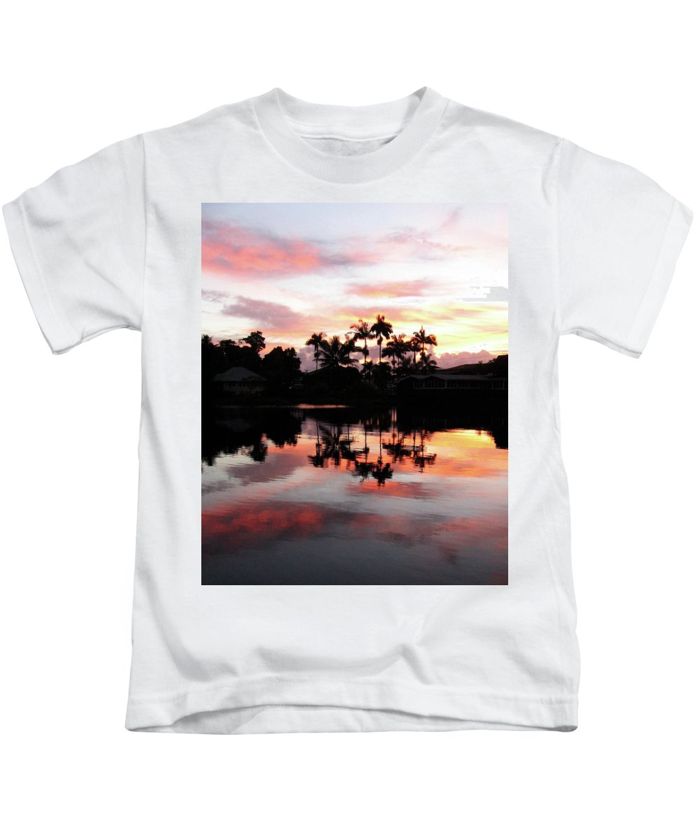 Hawaii Kids T-Shirt featuring the photograph Palm Tree Inlet 2 by Pauline Darrow