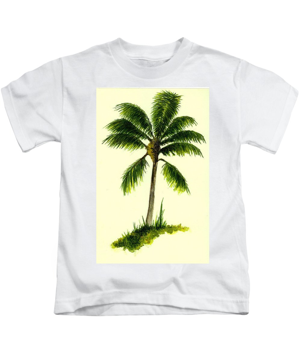 Tree Kids T-Shirt featuring the painting Palm Tree Number 1 by Michael Vigliotti