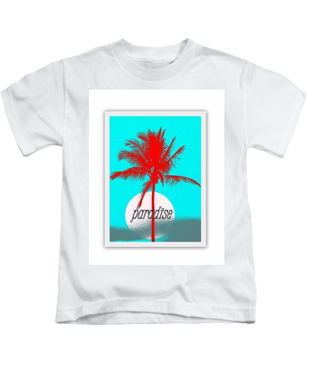 Landscape Kids T-Shirt featuring the photograph Paradise by Philip Okoro