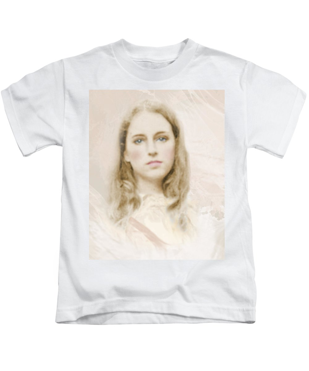 Portraits Kids T-Shirt featuring the photograph Pathos by Karen W Meyer