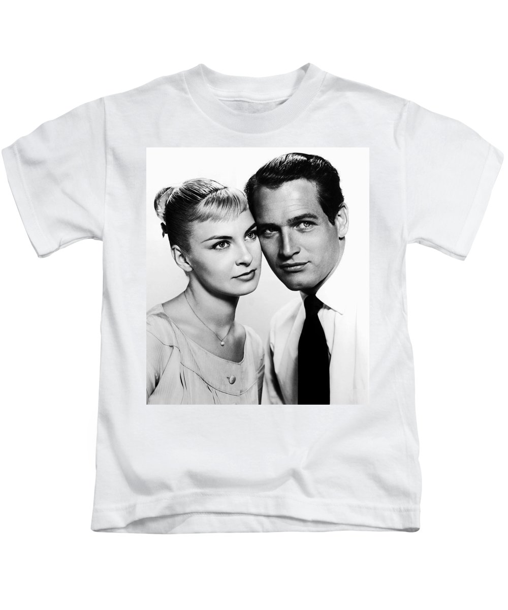 Publicity Photo Kids T-Shirt featuring the photograph Paul Newman And Joanne Woodward In The Long Hot Summer 1958 by Mountain Dreams
