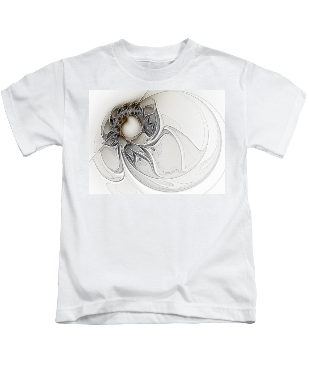 Digital Art Kids T-Shirt featuring the digital art Pearl by Amanda Moore