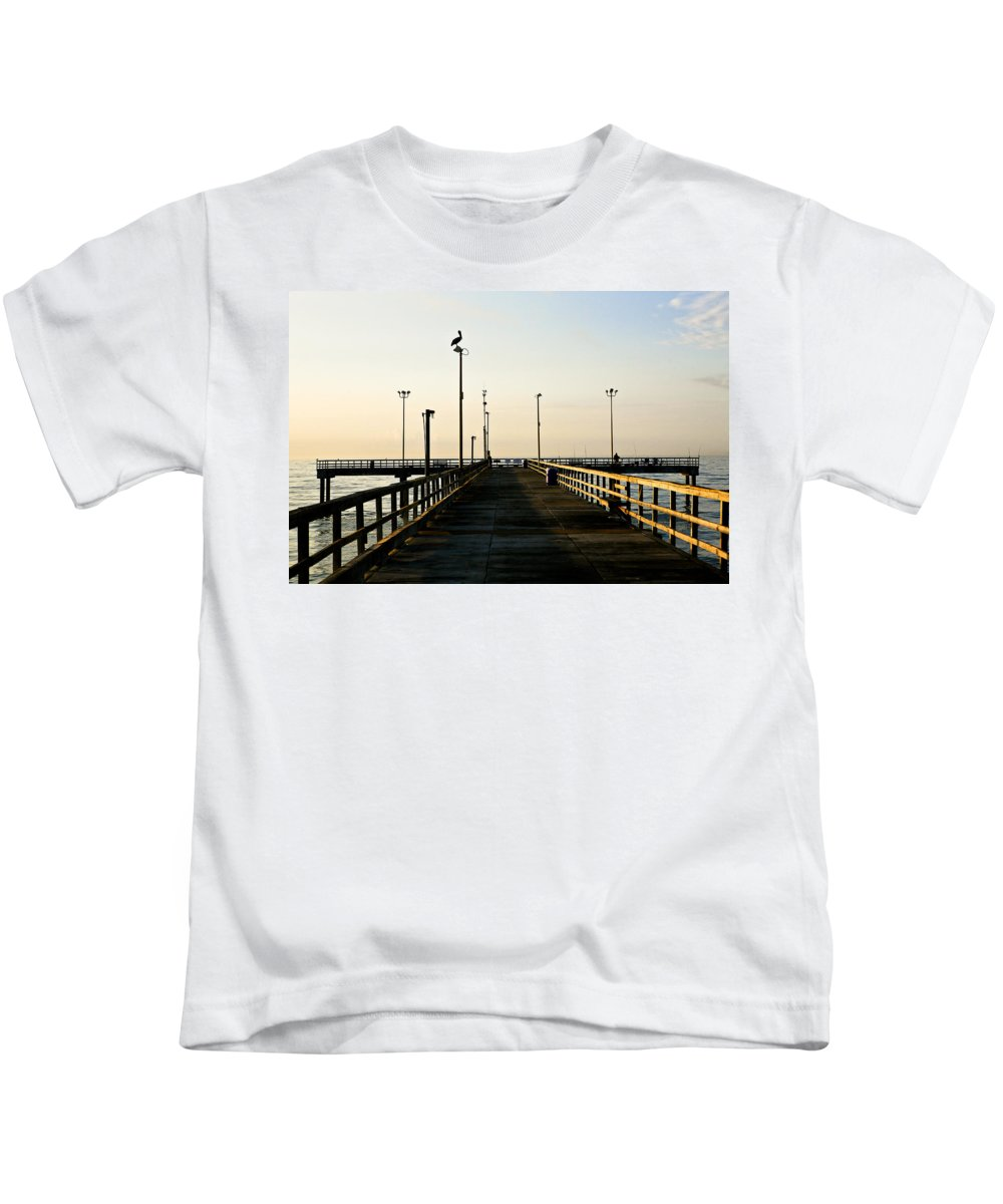 Pelican Kids T-Shirt featuring the photograph Pelican Morning by Marilyn Hunt