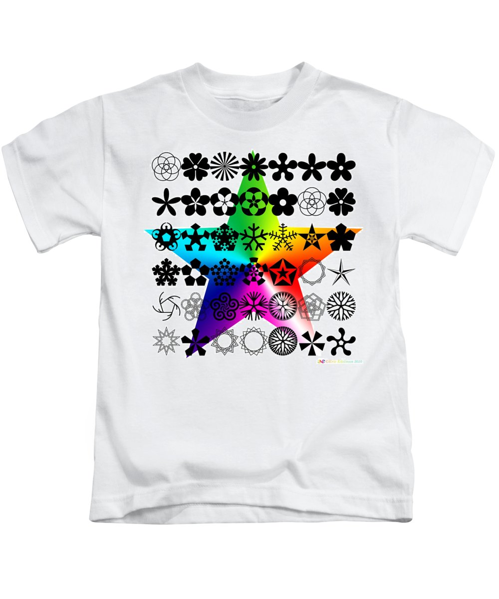 Pentacle Kids T-Shirt featuring the digital art Pentamorously Yours by Eric Edelman