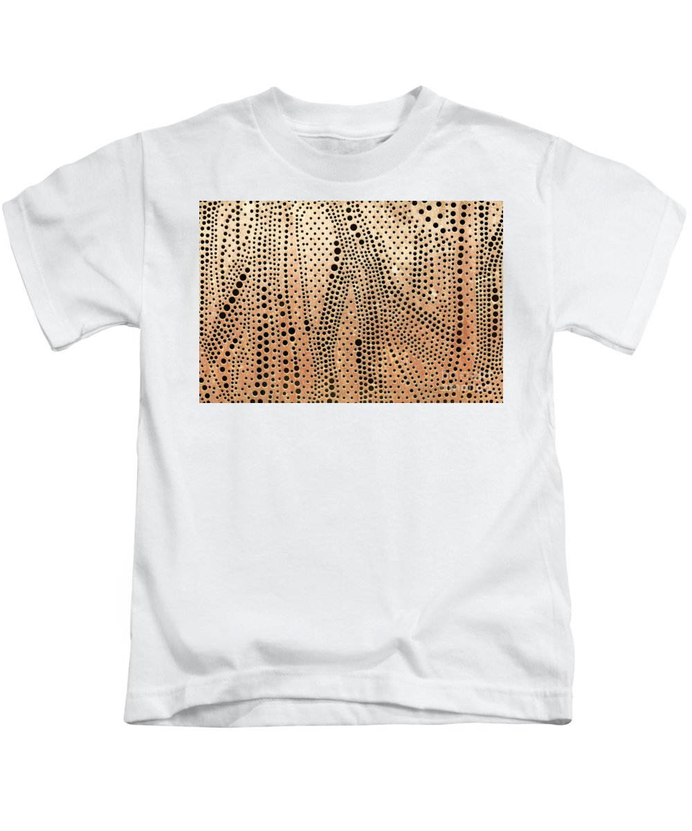 Copper Kids T-Shirt featuring the photograph Perforated Metal Sheet by Sophie McAulay